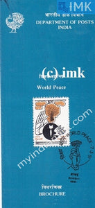 India 1991 World Peace Day (Cancelled Brochure) - buy online Indian stamps philately - myindiamint.com