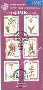India 1991 Orchids Of India Set Of 6v (Cancelled Brochure) - buy online Indian stamps philately - myindiamint.com