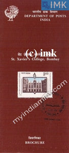 India 1994 St. Xavier's College Bombay (Cancelled Brochure) - buy online Indian stamps philately - myindiamint.com