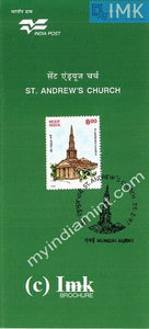 India 1997 St. Andrew's Church (Cancelled Brochure) - buy online Indian stamps philately - myindiamint.com