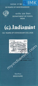 India 1998 Vidyasagar College Calcutta (Cancelled Brochure) - buy online Indian stamps philately - myindiamint.com