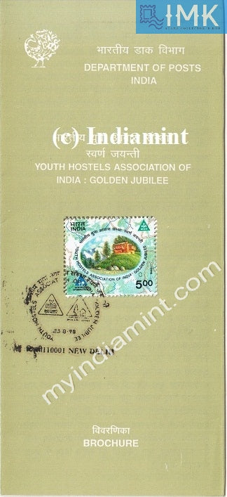 India 1998 Youth Hostels Association (Cancelled Brochure) - buy online Indian stamps philately - myindiamint.com