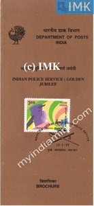 India 1999 Indian Police Service IPS (Cancelled Brochure) - buy online Indian stamps philately - myindiamint.com