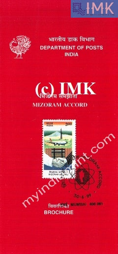 India 1999 Mizoram Accord (Cancelled Brochure) - buy online Indian stamps philately - myindiamint.com