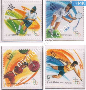 India 2000 MNH XXVII Olympics Sydney Set of 4v - buy online Indian stamps philately - myindiamint.com