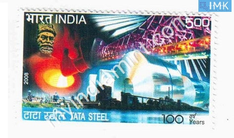 India 2008 MNH Centenary of Tata Steel - buy online Indian stamps philately - myindiamint.com