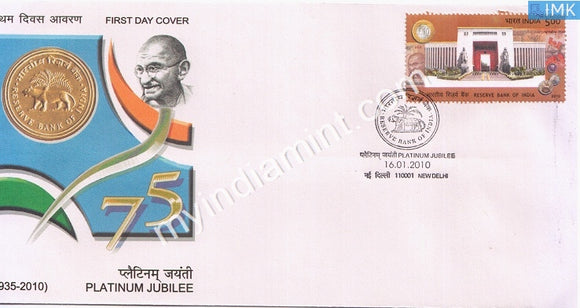 India 2010 MNH Reserve Bank Of India (FDC)