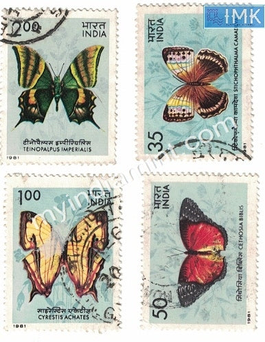 India 1981 Butterflies 4v Used