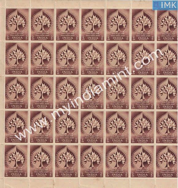 India 1956 Buddha Jayanti Set of 2 MNH Full Sheets Rare Set