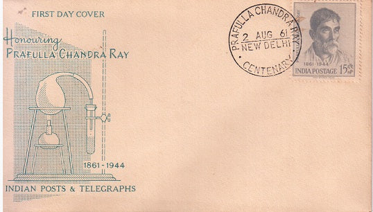 India 1961 Acharya Prafulla Chandra Ray (Fdc)