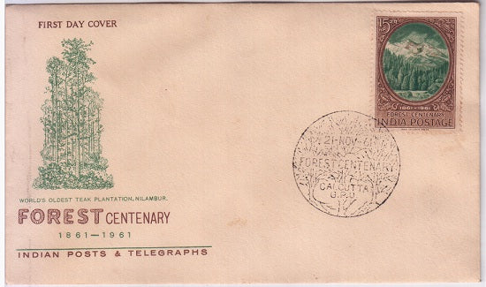India 1961 Centenary Scientific Forestry FDC