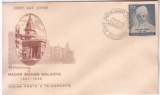 India 1961 Madan Mohan Malaviya FDC