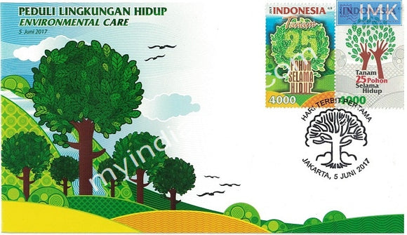Indonesia 2017 Environmental Care FDC with Brochure