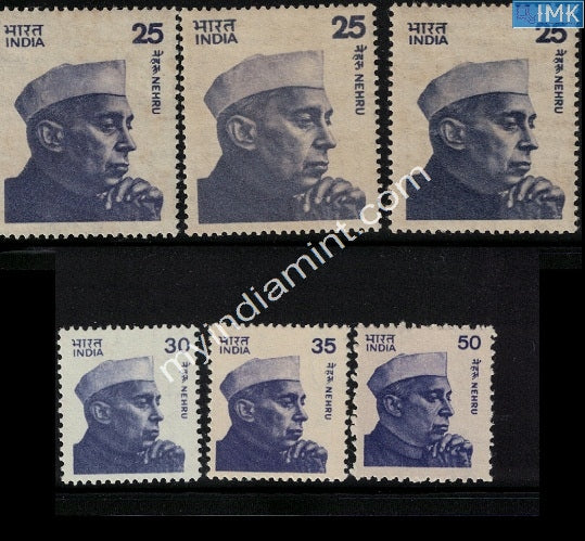 India Definitive Nehru Series MNH Complete Set
