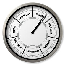 Load image into Gallery viewer, Wall clock with day of the week