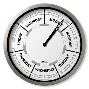 Wall clock with day of the week