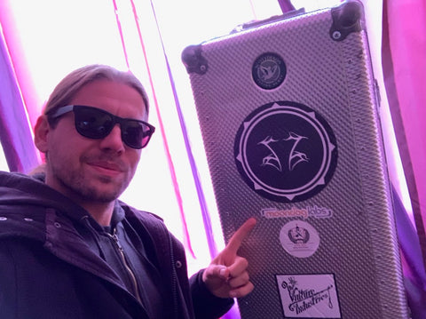 Kevin Storm with Moondog Labs Sticker on Case