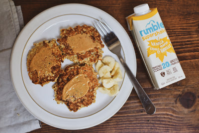 The Tastiest Four Ingredient Rumble Pancakes