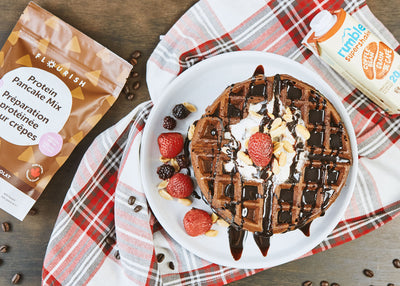 Chocolate Mocha Protein Waffle Recipe and Contest!
