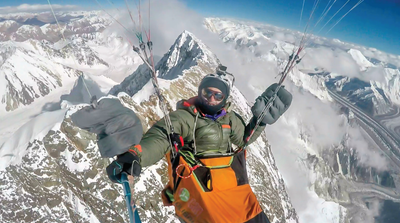 World Record Paraglider Wins Rumble-Sponsored Award in Banff