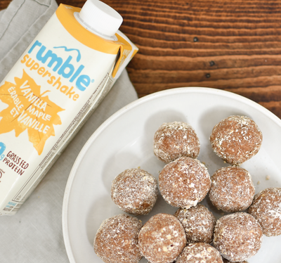 New Recipe! No-Bake Vanilla Spice Protein Bites
