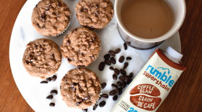 The Tastiest Rumble Coffee Bean and Chocolate Chip Muffins