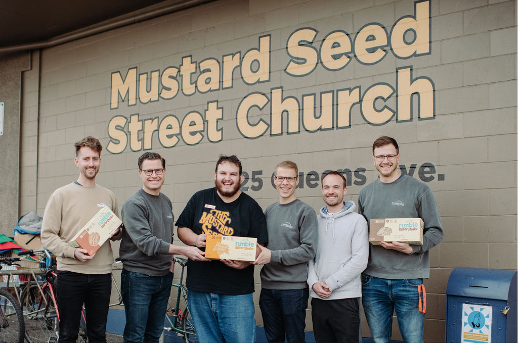 Rumble Supershake donates to Mustard Seed