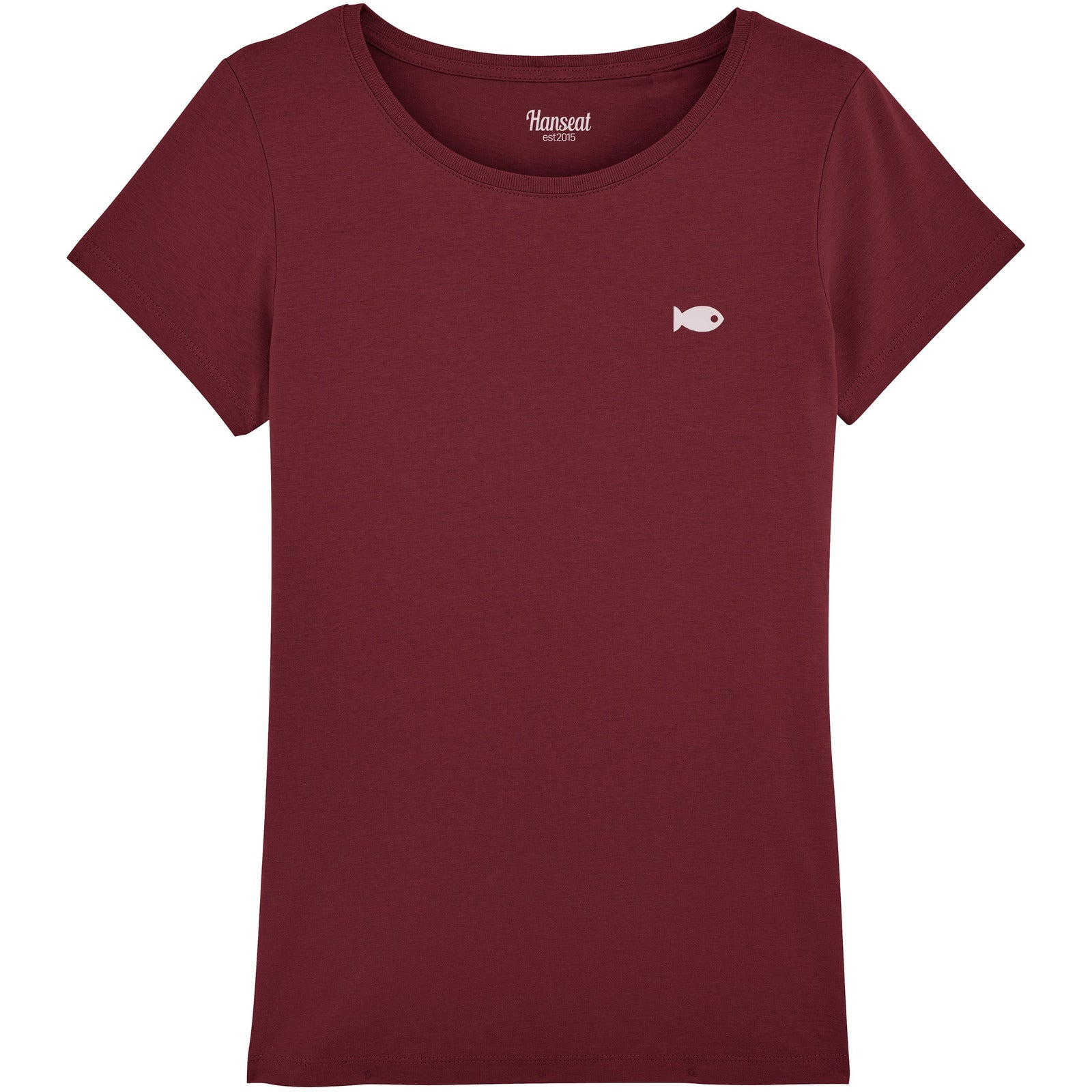T-Shirt Regular Fit [BURGUND ROT] - Hanseat
