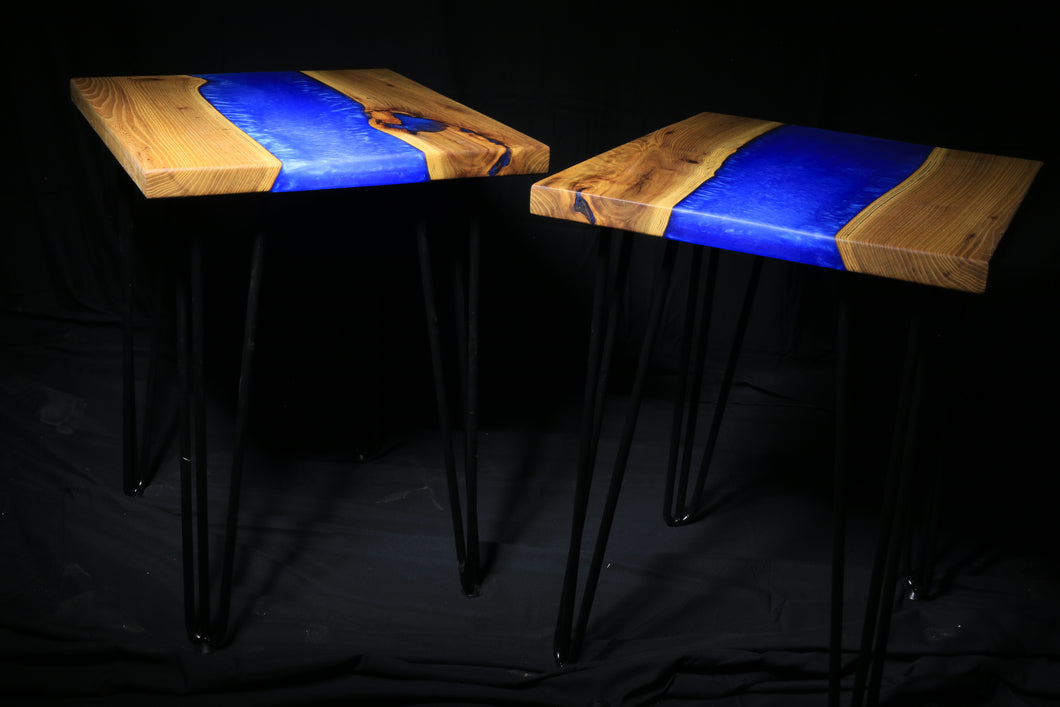 Resin River End Tables