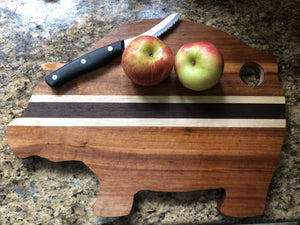 pig shaped cutting board