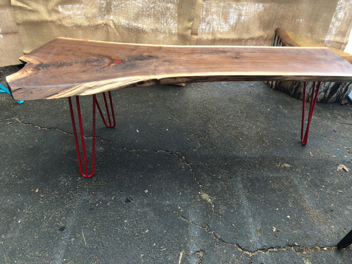 Black Walnut Resin Inlay Live Edge Coffee Table (#100) - SOLD
