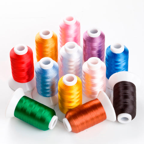 12 Spools Polyester Thread - sewing.craft