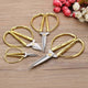 Stainless Steel Gold Sewing Scissors