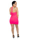 Casual Pink Mini Dress With Cut Out Front Open Back Tie Neck Top