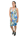 Summer Floral Print Sleeveless bodycon Mini Dress Cocktail And Party