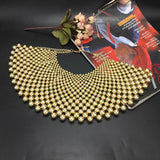 Gold Pearl Bib Cleopatra Egyptian Necklace Collar Beaded Choker Statement