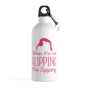 Sipping to Flipping Water Bottle - It's A Gymnastics Thing