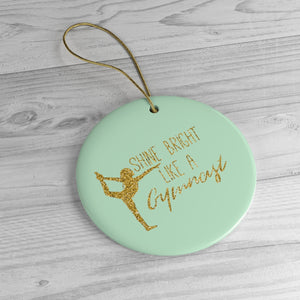 Light Green Gymnastics Ornaments - It's A Gymnastics Thing