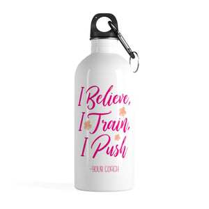 Believe Train Push Water Bottle - It's A Gymnastics Thing