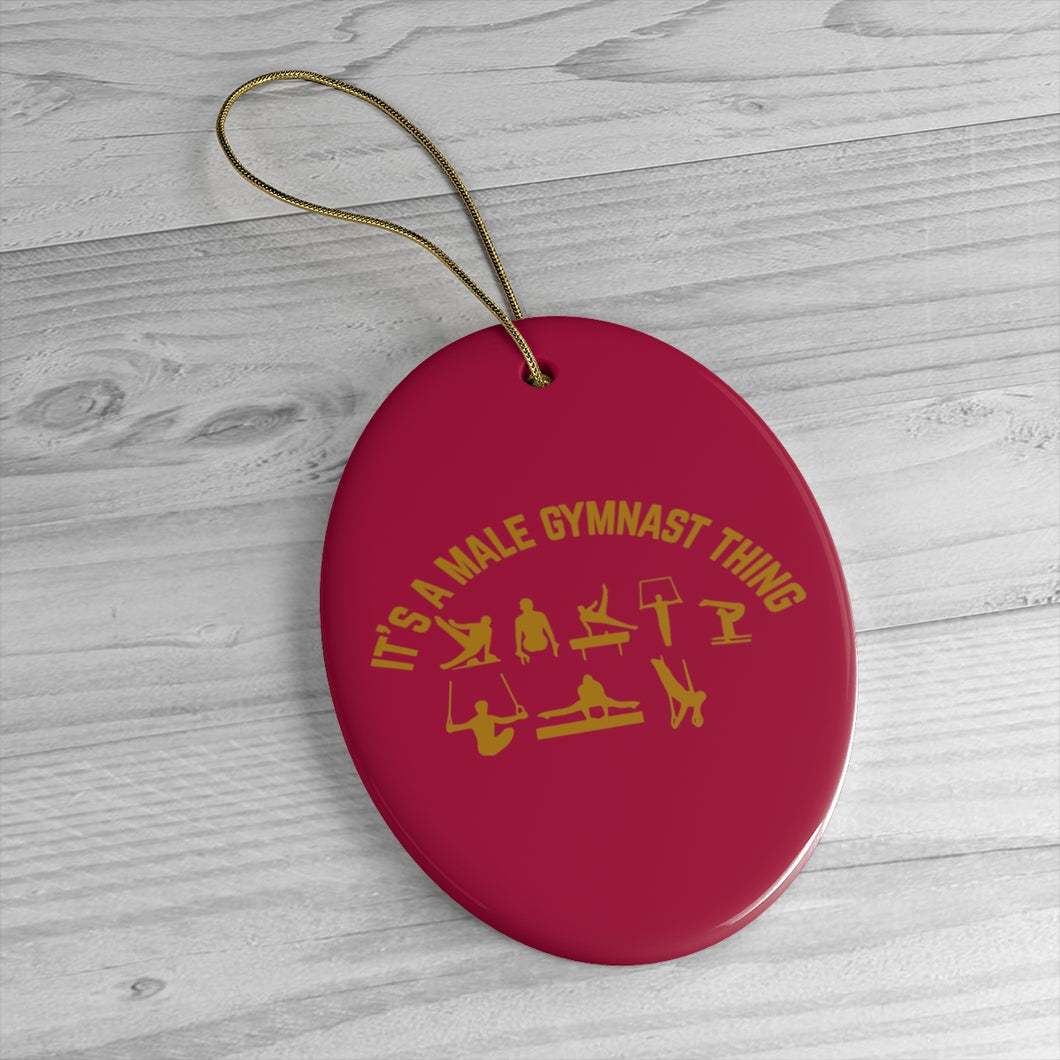 Burgundy Male Gymnastics Ornaments - It's A Gymnastics Thing