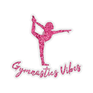 Pink Vibes Adhesive Sticker - It's A Gymnastics Thing