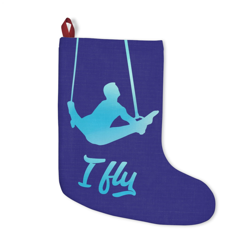 Blue I Fly Male Gymnastics Christmas Stockings - It's A Gymnastics Thing