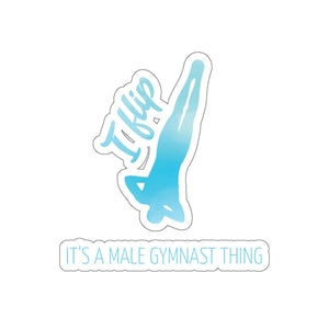 I Flip Adhesive Sticker - It's A Gymnastics Thing