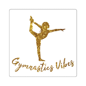 Gold Vibes Sticker - It's A Gymnastics Thing