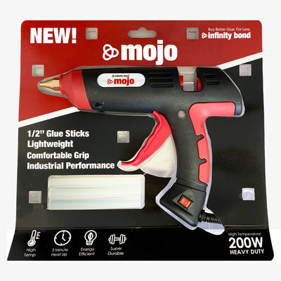 Infinity Bond Mojo Entry Level Hot Melt Glue Gun Packaging