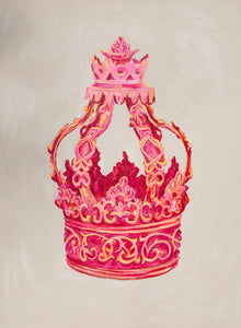 Pink Crown / Original Painting