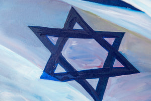 Flag over Kotel / Print on Canvas