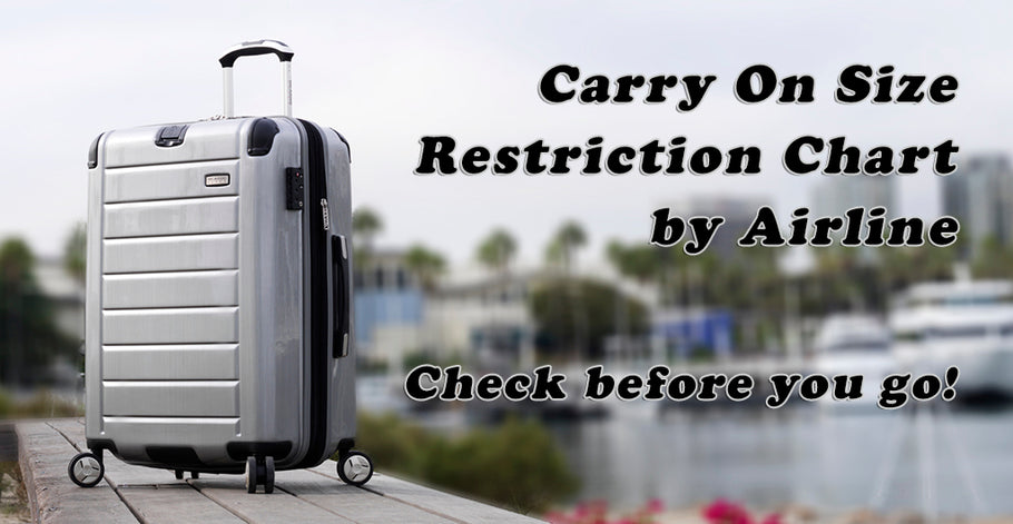 Does Your Carry on Fit? Check your airline!