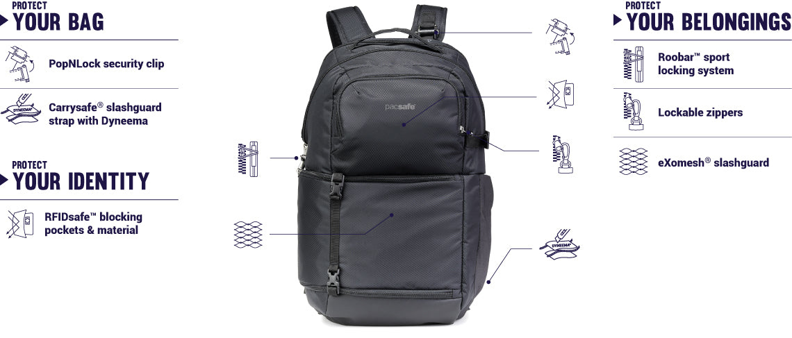 Pacsafe Camsafe X25 Anti-Theft Camera Backpack