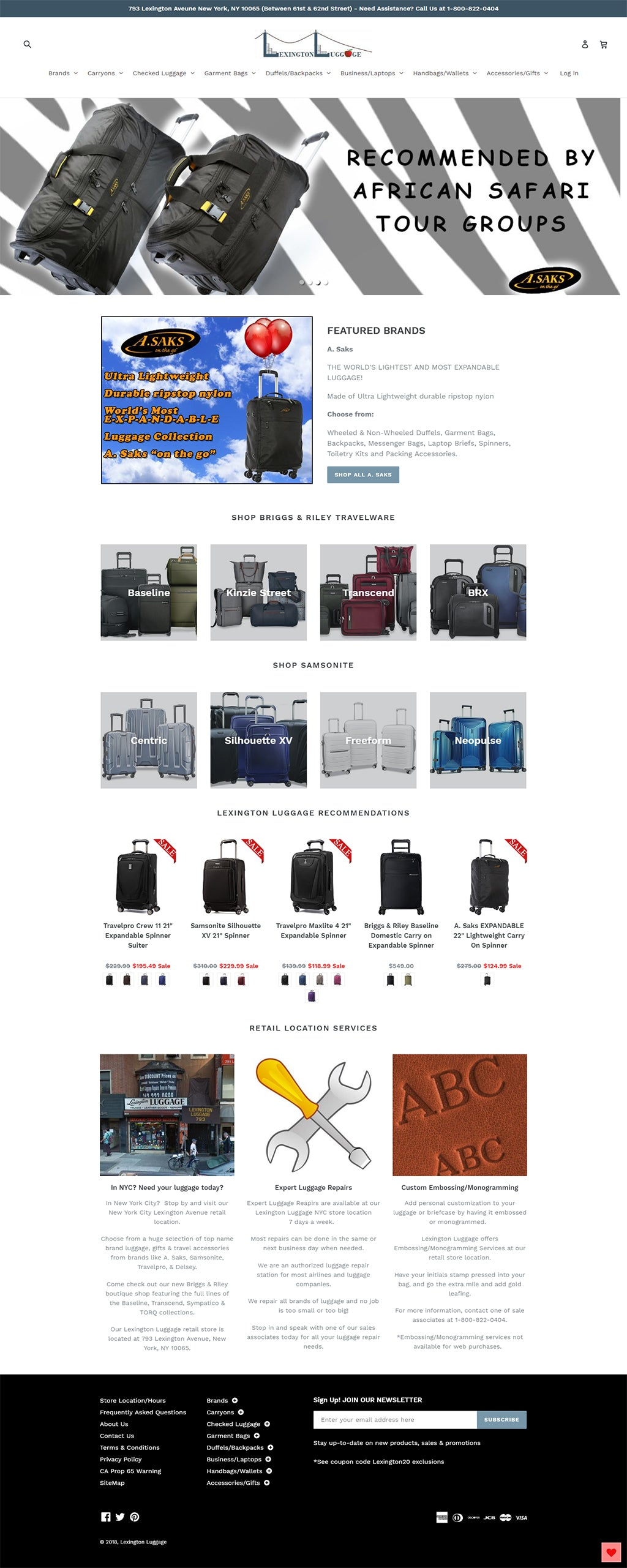 New LexingtonLuggage.com
